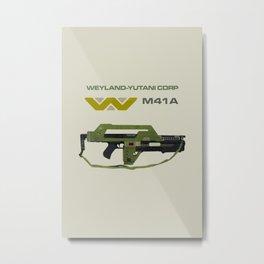 Aliens M41A Metal Print