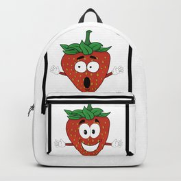 The Many Faces of Daryll Strawberry - An Emotional Strawberry Backpack