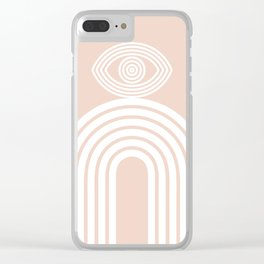 Abstraction_EYE_LINES_Minimalism_001 Clear iPhone Case