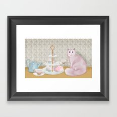 Cat's Tea Party Framed Art Print