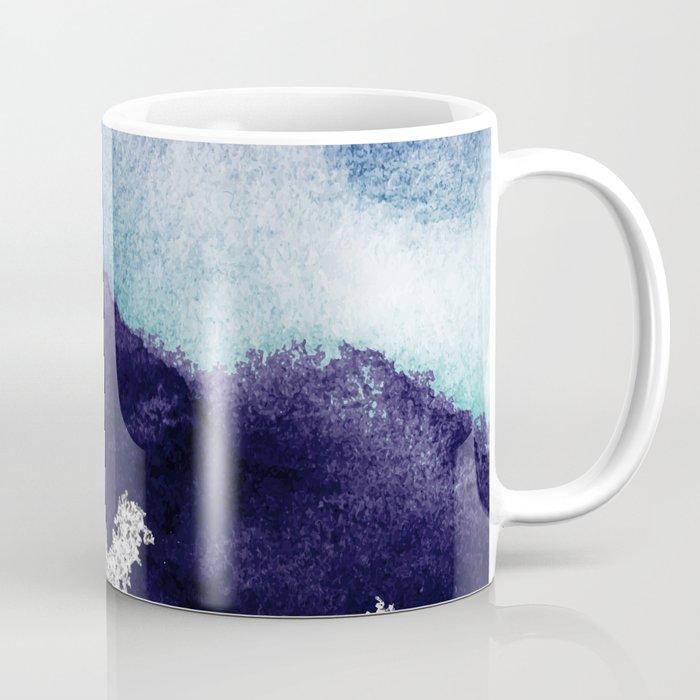 Silver foil on blue indigo paint Coffee Mug
