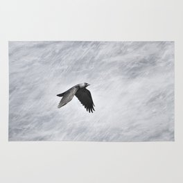 The crow. Halloween dreams Rug