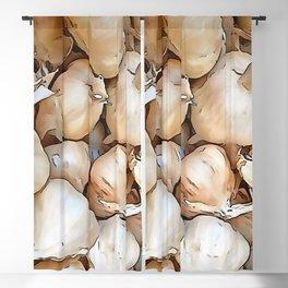 Garlic bulbs Blackout Curtain