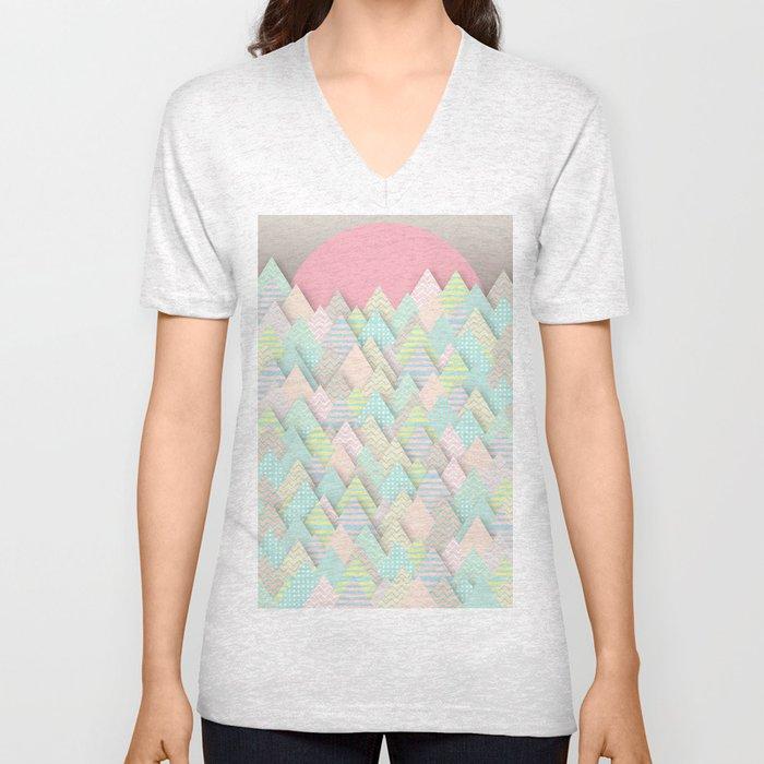 Forest Pastel Unisex V-Neck