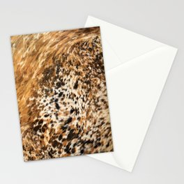 Rustic Country Western Texas Longhorn Cowhide Rodeo Animal Print Stationery Cards