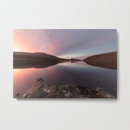Sunrise over the calm lake Metal Print