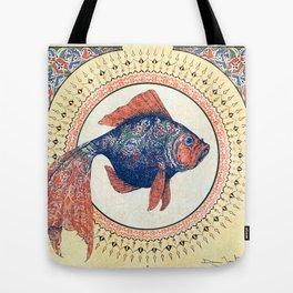 Turkish Gold Fish Tote Bag