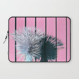 Yucca Plant in Front of Striped Pink Wall Laptop Sleeve
