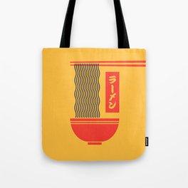 Ramen Japanese Food Noodle Bowl Chopsticks - Yellow Tote Bag