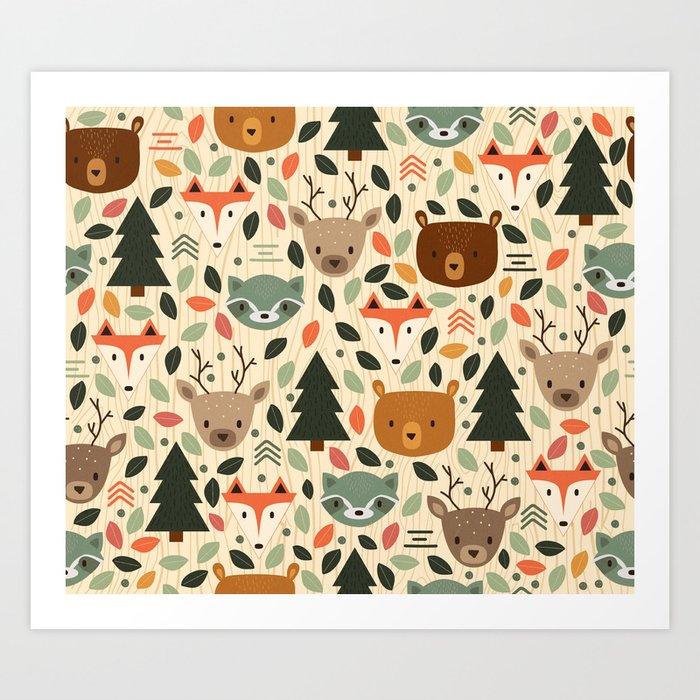 Woodland Creatures Kunstdrucke