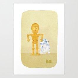 C3PO and R2D2 Art Print