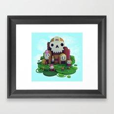 Skull Mountain Framed Art Print