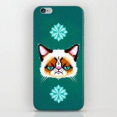 Grumpy Cat Geometric Pattern iPhone & iPod Skin