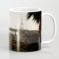 hollywood Mugs featuring Hollywood by Claire Jantzen