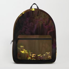 Urban cityscape sunset beautiful scenic painting Backpack