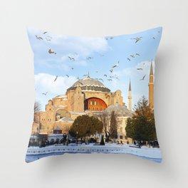 Hagia Sophia in Istanbul,Turkey Throw Pillow