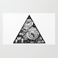 triangle Area & Throw Rugs featuring Triangle by adroverart