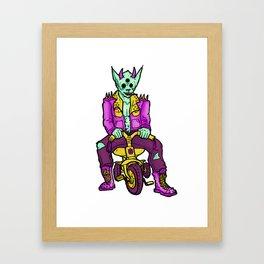 Trikewolf Framed Art Print