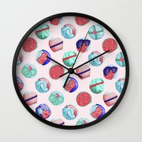 sushi Wall Clocks featuring Sushi by Óscar Andrés Berrío