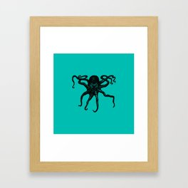 From the Deep Aqua - Octopus by Seasons Kaz Sparks Framed Art Print