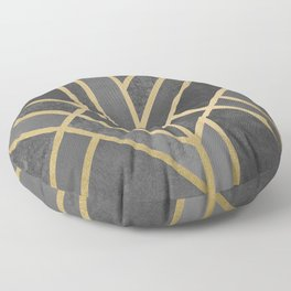 Art Deco Geometry 1 Floor Pillow