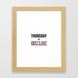 Grey's Day Framed Art Print
