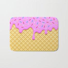 Strawberry Ice Cream Bath Mat