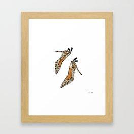 Leopard Heels Framed Art Print