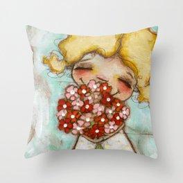 Smells like Spring - by Diane Duda Throw Pillow