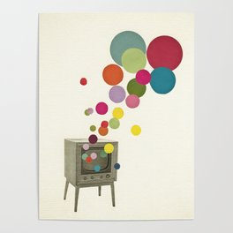 Colour Television Poster