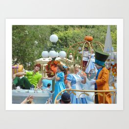 Peter Pan, Wendy, Alice and the Mad Hatter at Walt Disney World's Magic Kingdom Art Print
