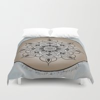 new year Duvet Covers featuring New Year by Danielle Harshenin