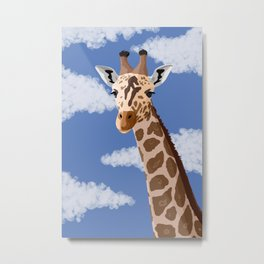 Giraffe in the Sky Metal Print