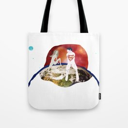 Parallelism, Earth scene Tote Bag