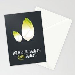 Endive au jambon sans jambon Stationery Cards
