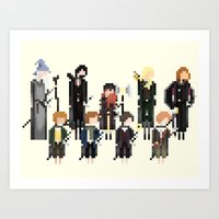 lord of the rings Art Prints featuring Lord of the Rings by LOVEMI DESIGN