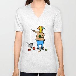 Gardener Duck Unisex V-Neck