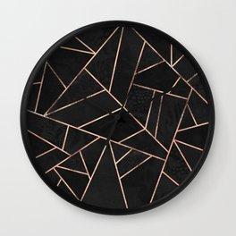 Velvet Black & Rose Gold Wall Clock