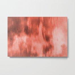 Pantone Living Coral Fusion Abstract Watercolor Blend Metal Print