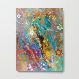Star of David Abstract Metal Print
