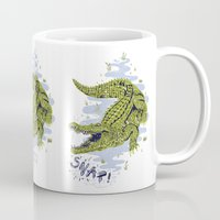 crocodile Mugs featuring Crocodile by Sam Jones Illustration