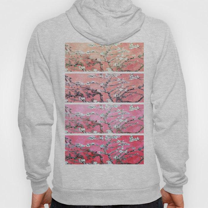 Vincent Van Gogh Almond Blossoms Panel Pink Peach Hoody