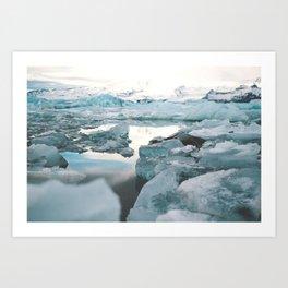 Iceland Glacier Lagoon | Jökulsárlón Art Print