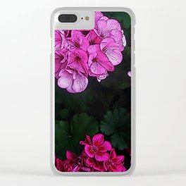 drawn flowes Clear iPhone Case