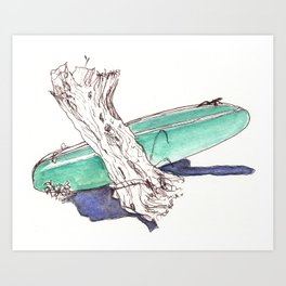 Surf and Turf Art Print