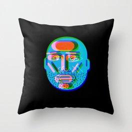 Blue Head Throw Pillow