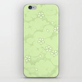 Kumori Nochi Sakura: Green iPhone Skin