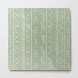 Stitchery - Moss green Metal Print