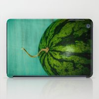 watermelon iPad Cases featuring Watermelon by Olivia Joy StClaire