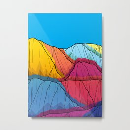 Colour outside the mountains Metal Print